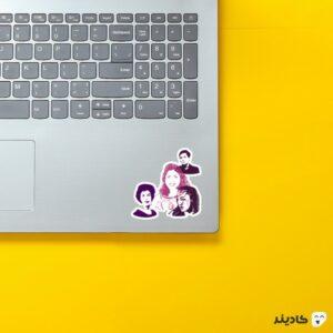 استیکر لپ تاپ زنان افتخار آفرین ایرانی! روی لپتاپ