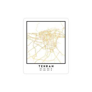 استیکر لپ تاپ نقشه جغرافیایی تهران