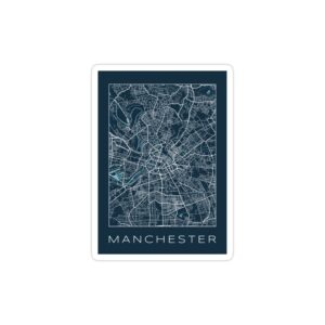استیکر لپ تاپ نقشه شهر منچستر