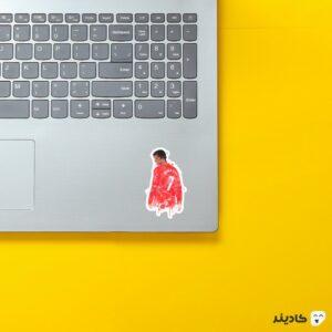 استیکر لپ تاپ رونالدو در منچستر روی لپتاپ