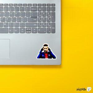 استیکر لپ تاپ نیمار در پاریس سنت ژرمن روی لپتاپ