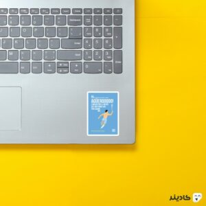 استیکر لپ تاپ پوستر گرافیکی آگوئرو روی لپتاپ