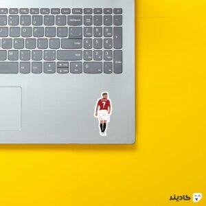 استیکر لپ تاپ بکهام در منچستر روی لپتاپ