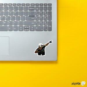 استیکر لپ تاپ پل پوگبا در یوونتوس روی لپتاپ