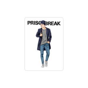 استیکر لپ تاپ فرار از زندان - پوستر مایکل در حال راه رفتن
