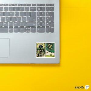 استیکر لپ تاپ کمیک هالک روی لپتاپ