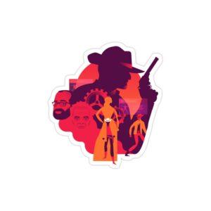استیکر لپ تاپ پوستر هنری وست ورلد
