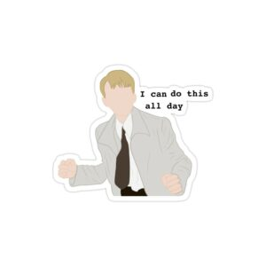 استیکر لپ تاپ می تونم تمام روز انجامش بدم