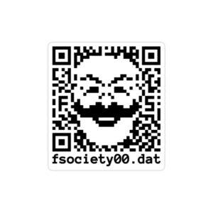 استیکر لپ تاپ مستر ربات - لوگوی سریال به شکل QR کد