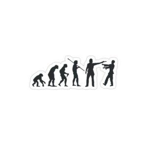 استیکر لپ تاپ پوستر تکاملی زامبیها