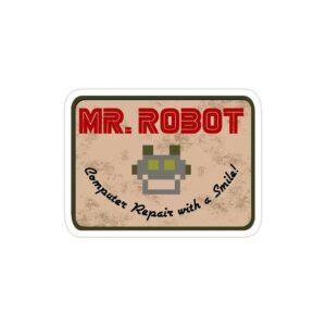استیکر لپ تاپ مستر ربات - لوگوی سریال مستر روبات