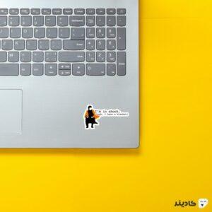 استیکر لپ تاپ پوستر شرلوک روی لپتاپ