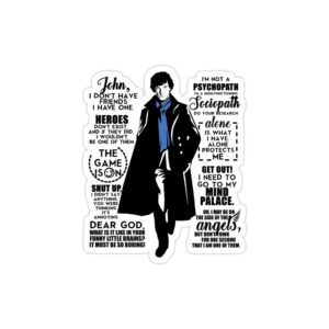 استیکر لپ تاپ پوستر شرلوک و تایپوگرافی