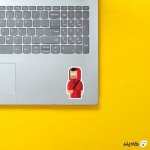 استیکر لپ تاپ ماسک دالی روی لپتاپ