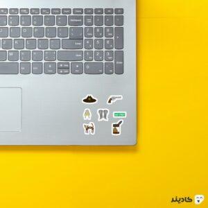 استیکر لپ تاپ پک سریال روی لپتاپ
