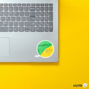 استیکر لپ تاپ سریال آفیس - نمودار جیم روی لپتاپ