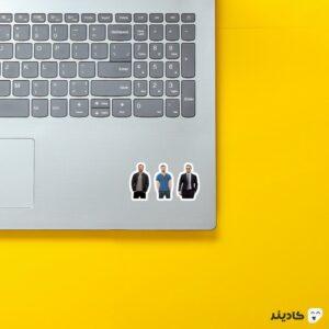 استیکر لپ تاپ میکرو استیکر کریس ایوانز روی لپتاپ