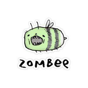 استیکر لپ تاپ پوستر فانتزی زامبی