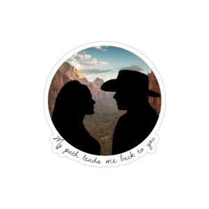 استیکر لپ تاپ دولورس و تدی عاشقانه