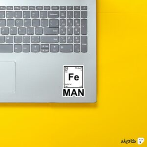 استیکر لپ تاپ مرد آهنی روی لپتاپ