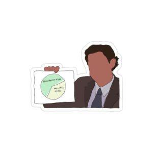 استیکر لپ تاپ سریال آفیس - پوستر جیم و نمودارش