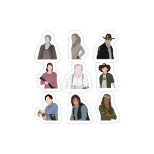 استیکر لپ تاپ پوستر شخصیتهای سریال