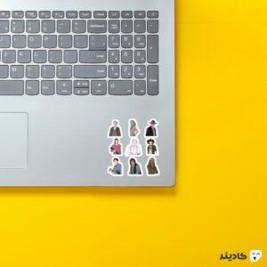 استیکر لپ تاپ پوستر شخصیتهای سریال روی لپتاپ