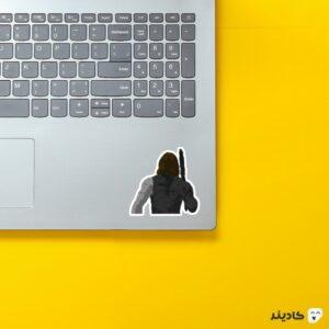 استیکر لپ تاپ سرباز زمستان روی لپتاپ