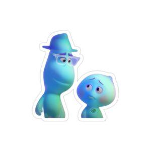 استیکر لپ تاپ روح جو و روح کوچولو در حال صحبت