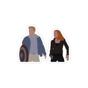 استیکر لپ تاپ کاپتان و ناتاشا