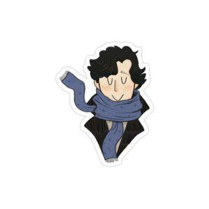 استیکر لپ تاپ پوستر شرلوک خندان