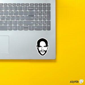 استیکر لپ تاپ فرار از زندان - پوستر سیاه سفید فرناندو روی لپتاپ