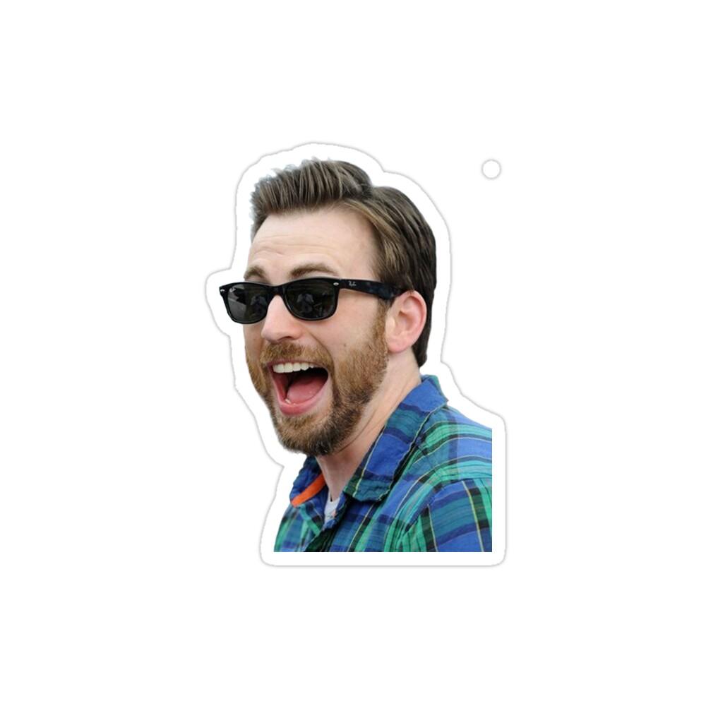 استیکر لپ تاپ خنده کریس ایوانز