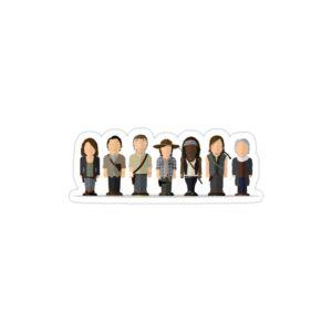 استیکر لپ تاپ پوستر شخصیتهای سریال فصل ۶