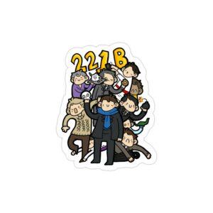 استیکر لپ تاپ شخصیتهای سریال شرلوک
