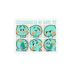 استیکر لپ تاپ پوستر روح کوچولو در شکل های مختلف