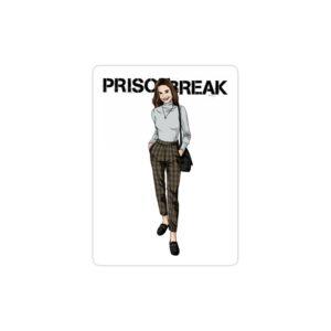 استیکر لپ تاپ فرار از زندان - پوستر سارا و لوگوی اسم سریال