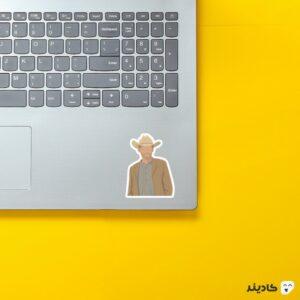 استیکر لپ تاپ پرتره ویلیام روی لپتاپ