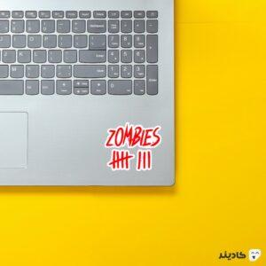استیکر لپ تاپ لوگوی زامبی روی لپتاپ
