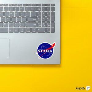 استیکر لپ تاپ ناسا - استارک روی لپتاپ