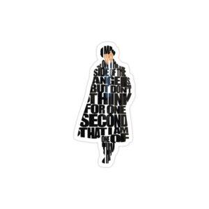 استیکر لپ تاپ تایپوگرافی شرلوک