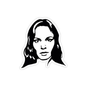 استیکر لپ تاپ فرار از زندان - پوستر سیاه سفید سارا