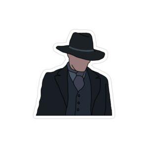 استیکر لپ تاپ مردی در تاریکی