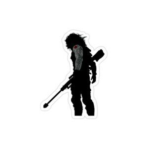 استیکر لپ تاپ سرباز زمستان