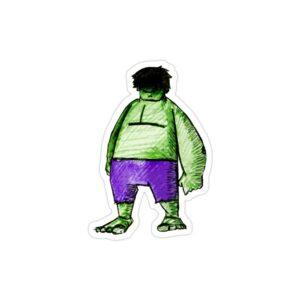 استیکر لپ تاپ نقاشی هالک