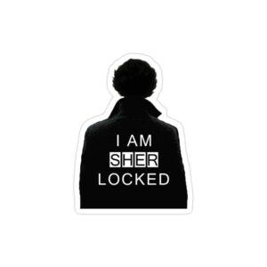 استیکر لپ تاپ پوستر سیاه سفید شرلوک