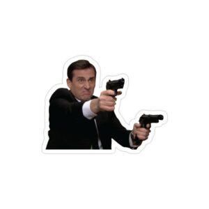 استیکر لپ تاپ سریال آفیس - مایکل با تفنگ