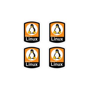 استیکر لپ تاپ برنامه نویسی - قدرت گرفته از لینوکس