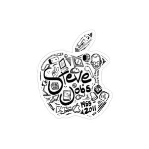 استیکر لپ تاپ استیو جابز - لوگوی اپل