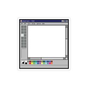 استیکر لپ تاپ بیل گیتس - محیط نقاشی ویندوز قدیمی